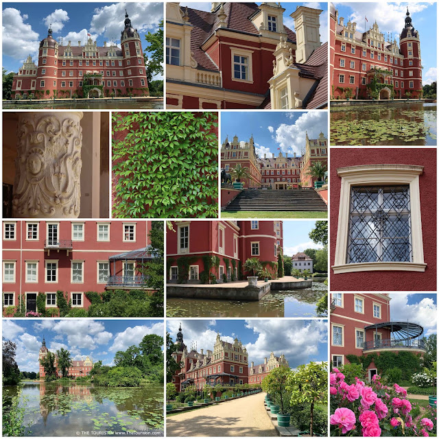 Travel Germany and Poland – UNESCO World Heritage site Prince-Pueckler-Park Bad Muskau and Muskau Castle in Saxony.