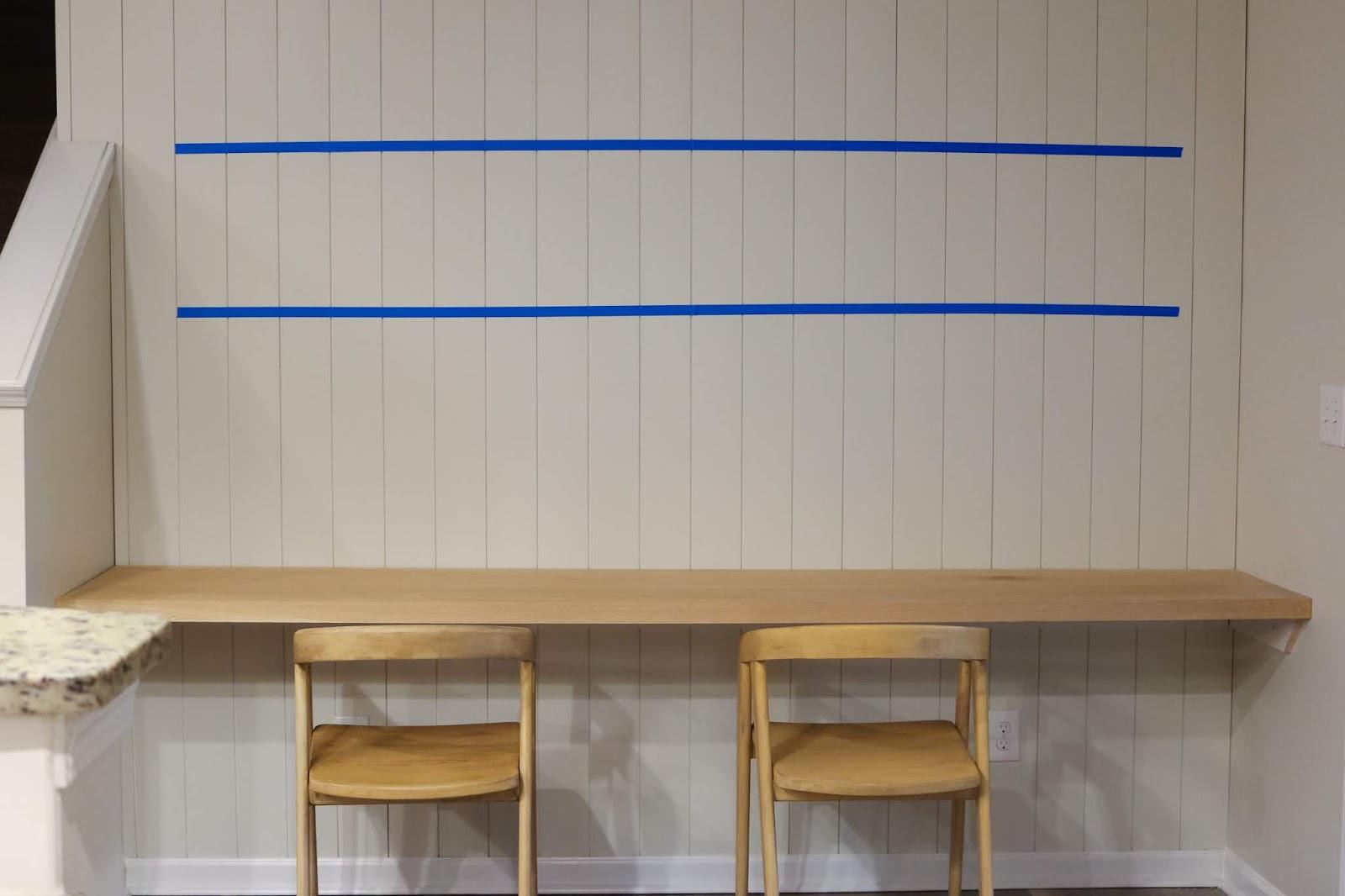 DIY extra long floating desk %