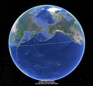Penjelasan Mengapa Rute Pesawat Dari Amerika Ke Asia Tidak Melewati Samudera Pasifik