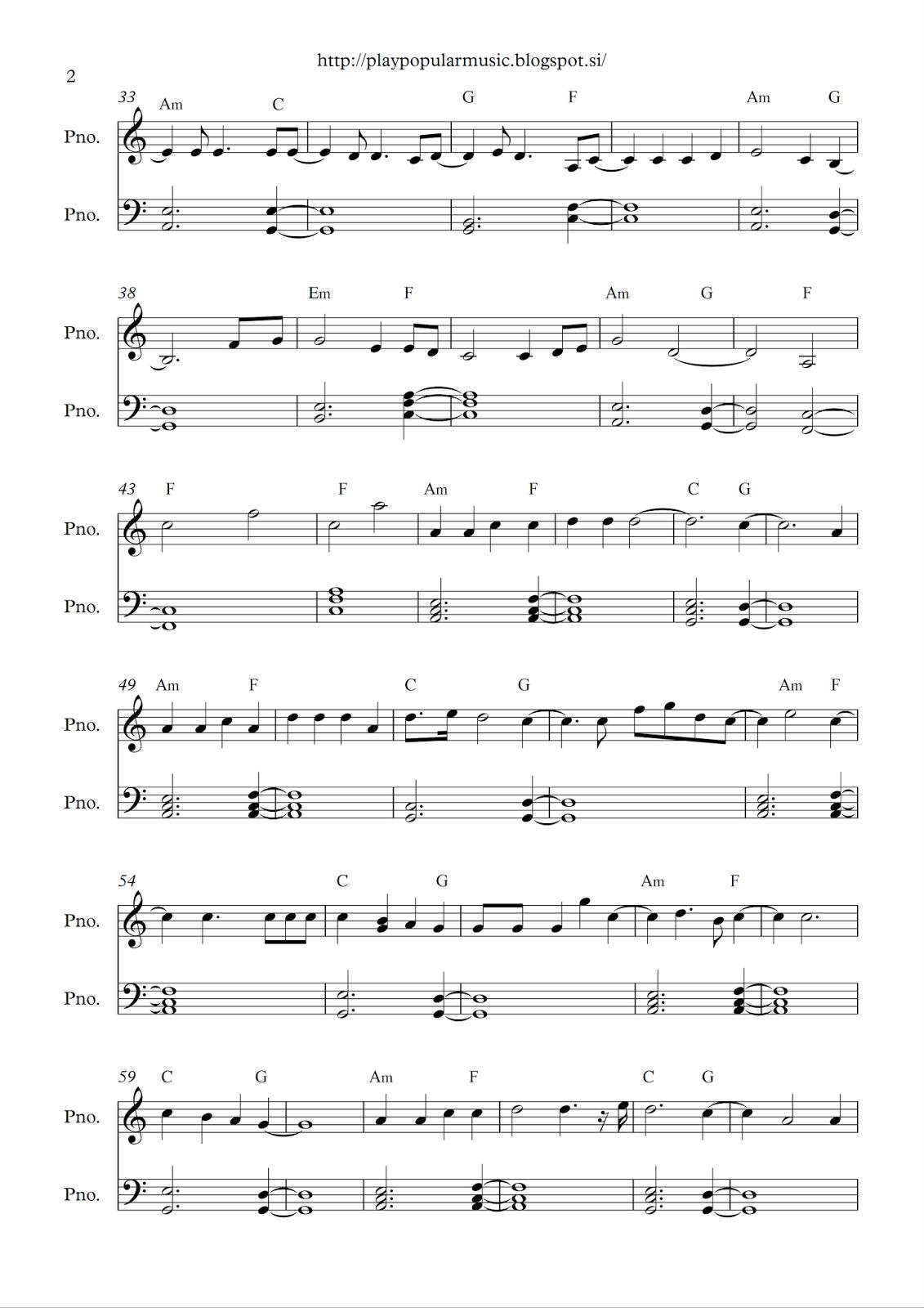 Adele Hello Sheet Music Honghankk