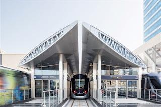 Source: RTA, via Dubai Media Office. A tram station.