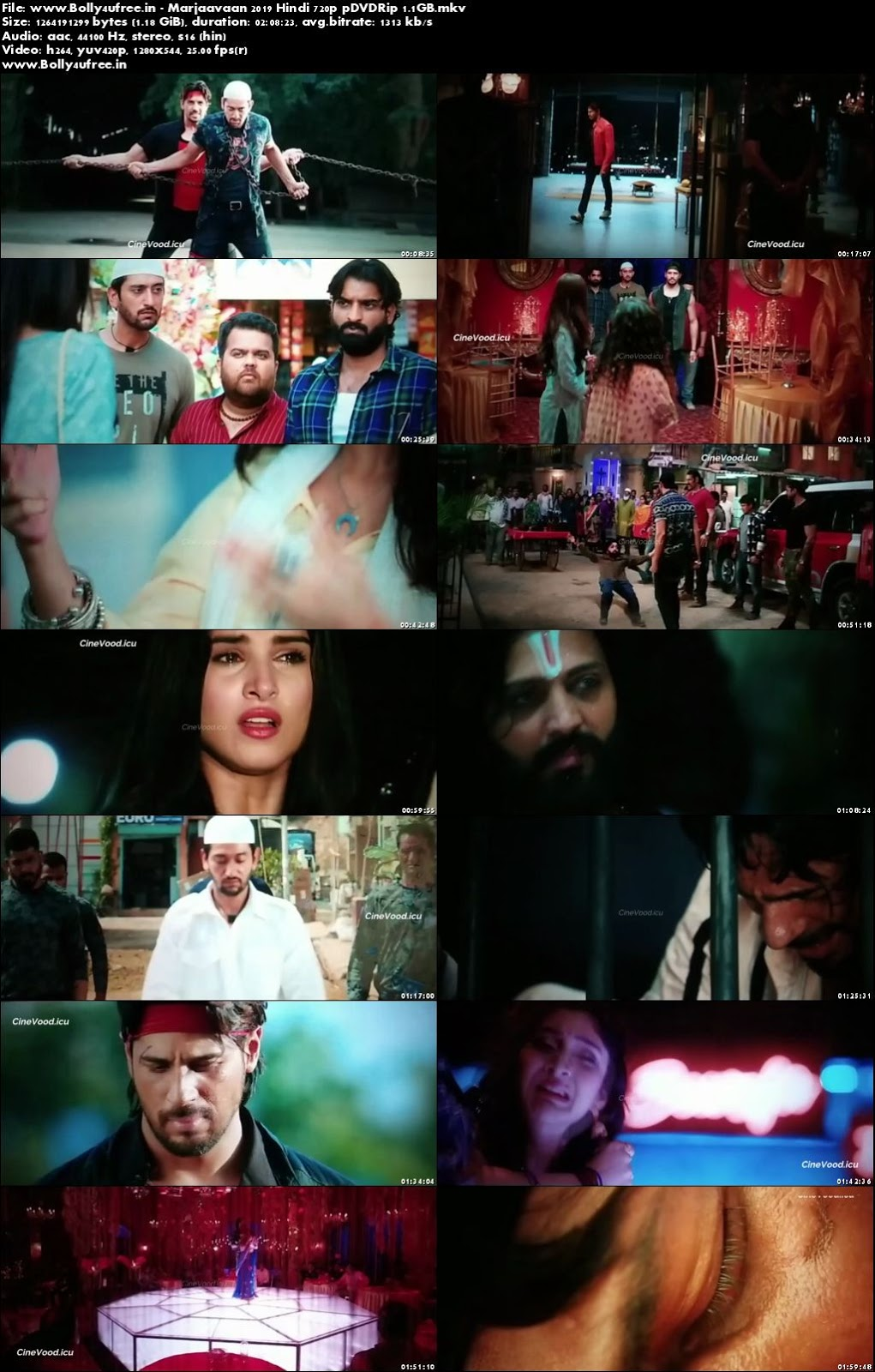 Marjaavaan 2019 Hindi 480p pDVDRip 300MB