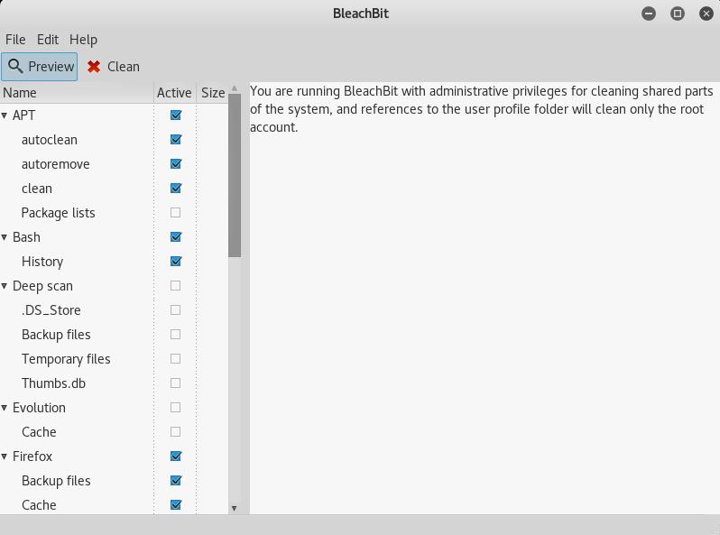 شرح تثبيت BleachBit افضل اداة تنظيف لنظام لينكس linux تنظيف النظام بالكامل وتحرير مساحة كبيرة علي القرص - Linux cleanup tool