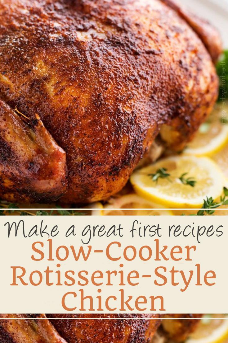 Slow-Cooker Rotisserie-Style Chicken | chicken recipes, crock pot recipes, chicken breast recipes, easy chicken recipes, soup recipes, chili recipe, chicken casserole, slow cooker recipes, chicken salad recipe, meatloaf recipe, chicken thigh recipes, chicken casserole recipes, chicken curry recipe, chicken soup recipe, chicken dishes, baked chicken recipes, baked chicken, healthy chicken recipes, lasagna recipe, chicken recipes for dinner, rice recipes, butter chicken recipe, casserole recipes, chicken parmesan recipe, fried chicken recipe, chicken and rice recipe. #slowcooker #rotisseriestyle #chicken