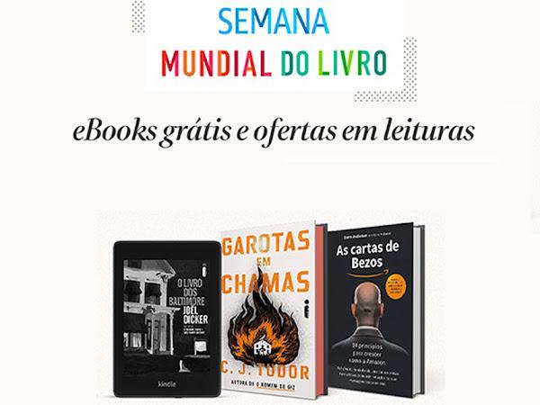 Semana Mundial do Livro Amazon: e-books grátis + descontos em livros + 3 meses de Kindle Unlimited por R$ 1,99