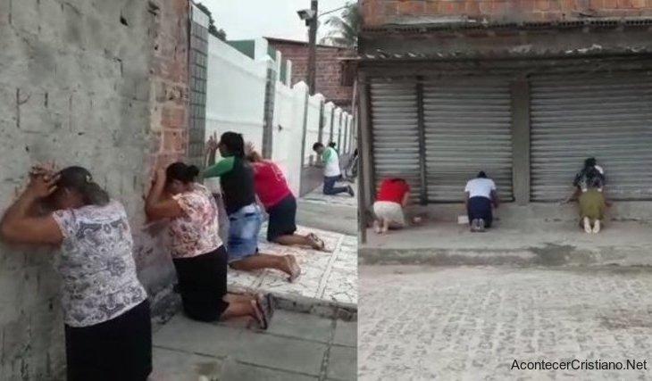 Cristianos orando en las calles Brasil