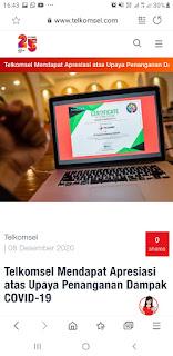 Telkomsel Menerima Penghargaan Iconomics CSR Award Kategori Telekomunikasi.