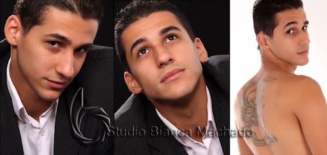 Fotos masculinas em estudio