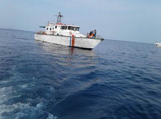 8 Kapal Patroli Hubla Yang Temukan Barang  Dari Pesawat Lion Air Diserahkan Ke Posko Basarnas di JICT II