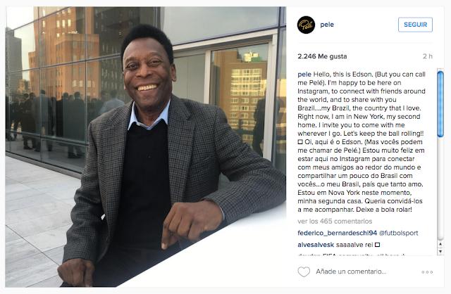 Pelé ya está en Instagram