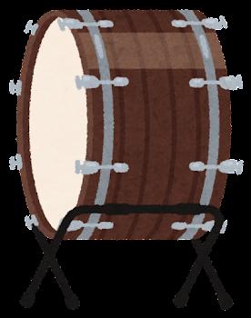 大太鼓のイラスト(台座付き)