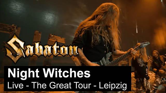 """Sabaton - """"Night Witches"""" (Live - The Great Tour - Leipzig)"""