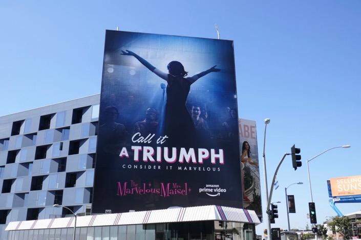 Mrs Maisel Call it a Triumph season 2 Emmy FYC billboard