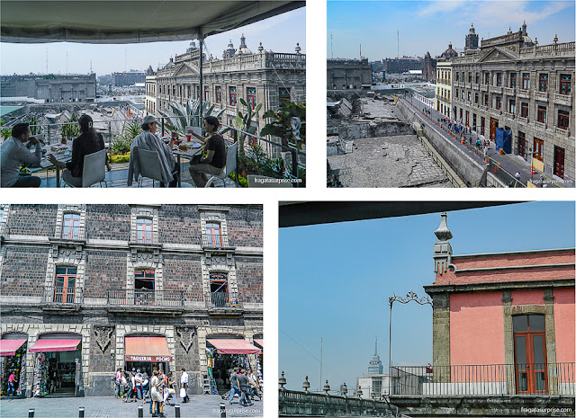 Casarões coloniais no Centro Histórico da Cidade do México