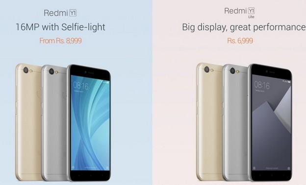 Xiaomi Redmi Y1 and Xiaomi Redmi Y1 Lite