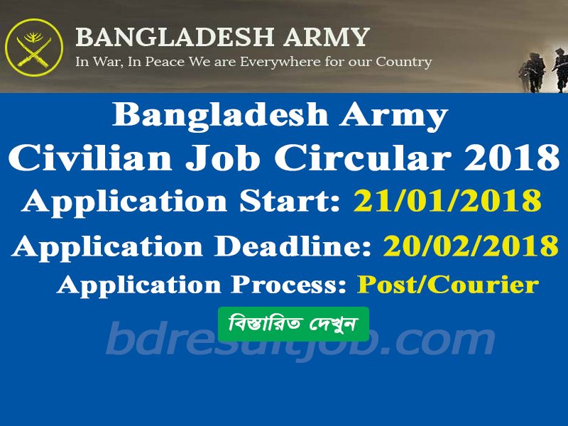 Bangladesh Army Civilian Job Circular 2018 Bangladesh Education