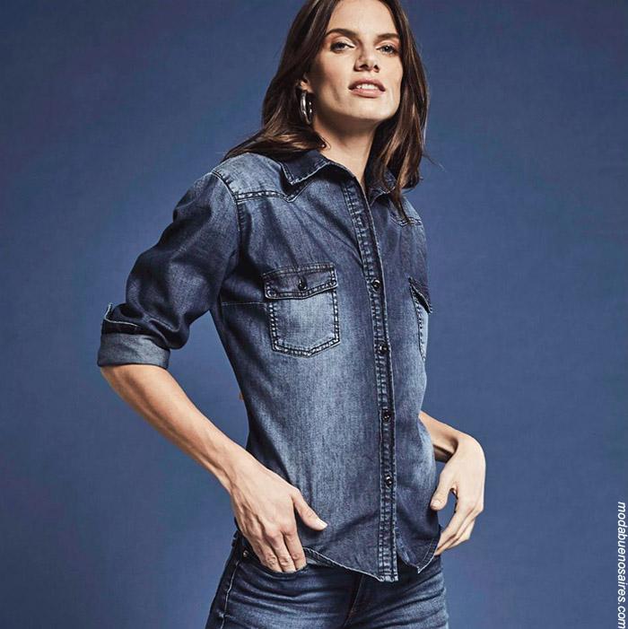 Moda jeans invierno 2019.