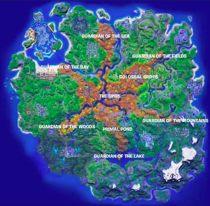At each of these locations you will find a Spire tower