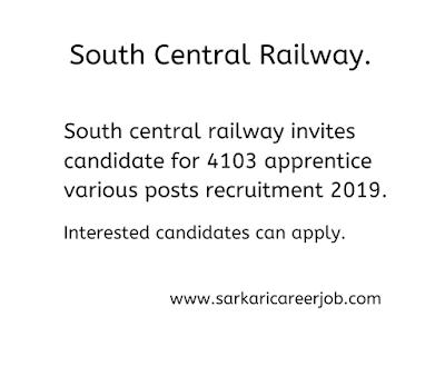 railway invites for 4103 apprentice post latest government job bacancies