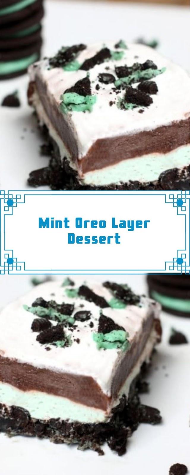 Mint Oreo Layer Dessert