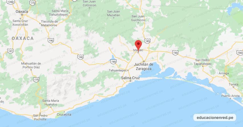 Temblor en México de Magnitud 4.0 (Hoy Viernes 01 Noviembre 2019) Sismo - Epicentro - Ixtepec - Oaxaca - OAX. - SSN - www.ssn.unam.mx