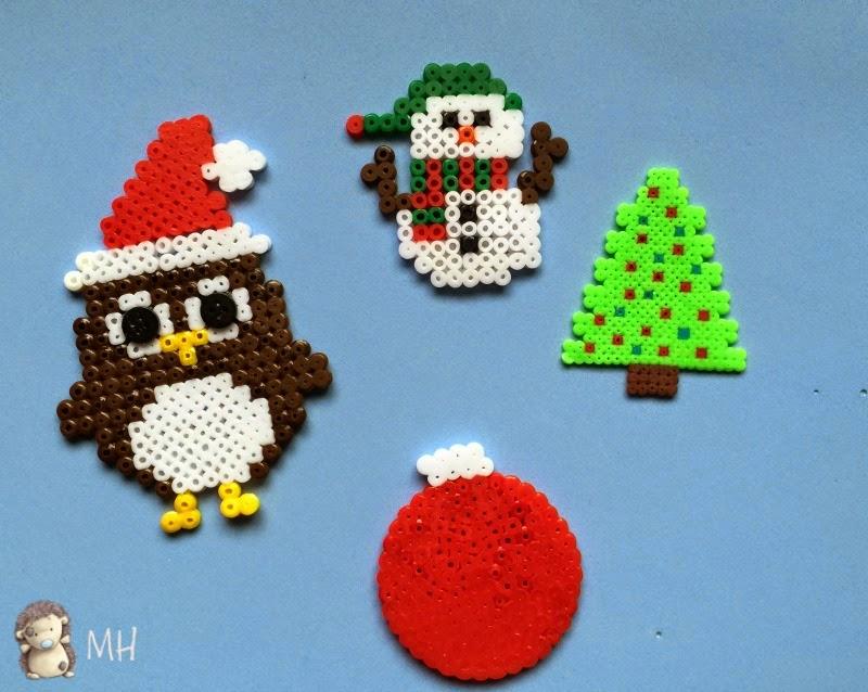 hama beads con motivos navideños