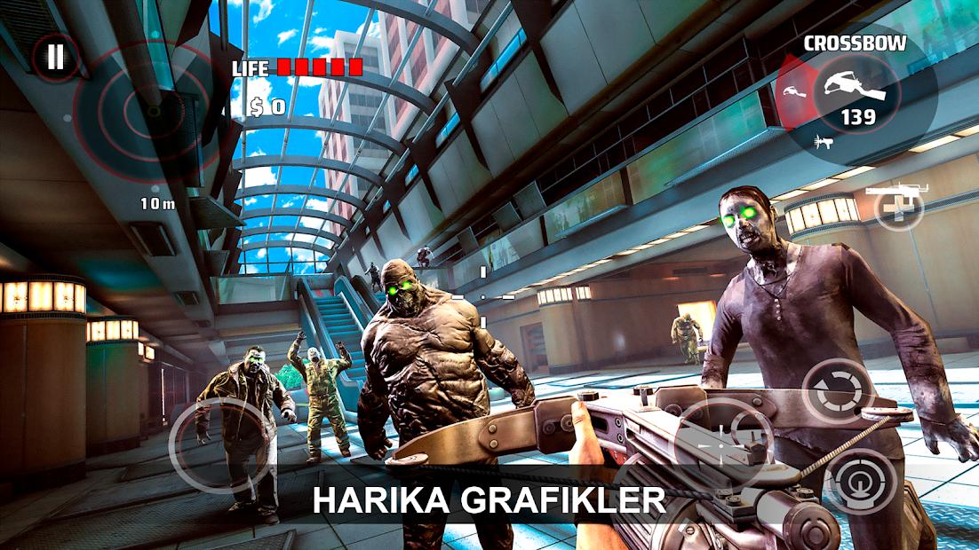DEAD TRIGGER - Zombie Horror Shooter Hileli APK - Para Altın Hileli APK