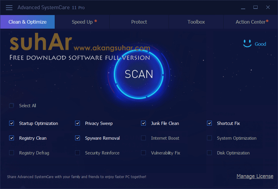 Free Download Advanced SystemCare Pro Final Full Version, Advanced SystemCare Pro Plus Activation Code, Advanced SystemCare Pro Full Serial Key, Advanced SystemCare Pro Registration Key
