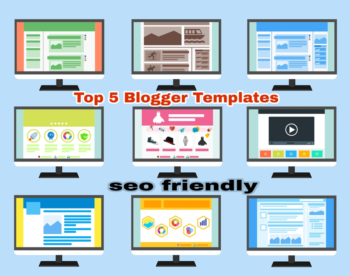 Top 5 Premium Blogger Templates Free - kaise how