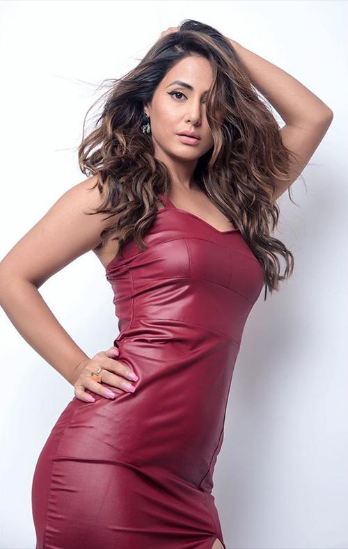 hina khan in tight dress figure most popular stylish indian tv actress
