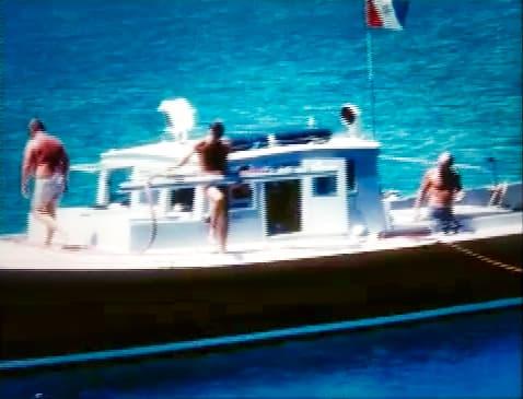 Teddy Tucker's dive boat in the ocean off Bermuda