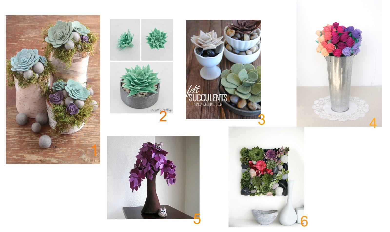 Fai Da Te Decorazioni Casa piante di feltro fai da te per decorare la casa con piante e
