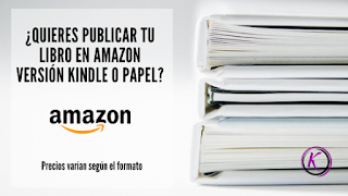 Publica tu libro en Amazon version kindle y papel