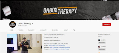Unbox Therapy channel