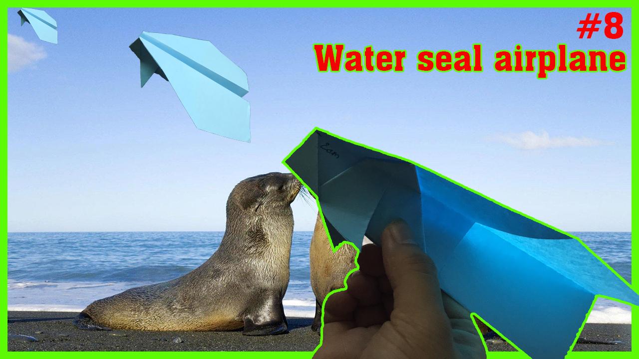 Cách gấp máy bay giấy hình con sư tử biển - How to make an seals paper airplane that flies far