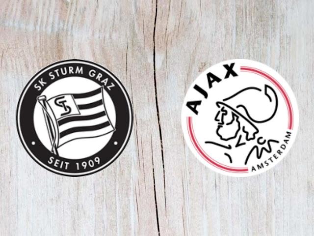 Watch Sturm Graz vs Ajax Full Match & Highlights - 01 August 2018