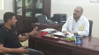 وفد مؤسسة الشهيدين الصدرين يزور مركز العيادة الثانية في مدينة الصدر