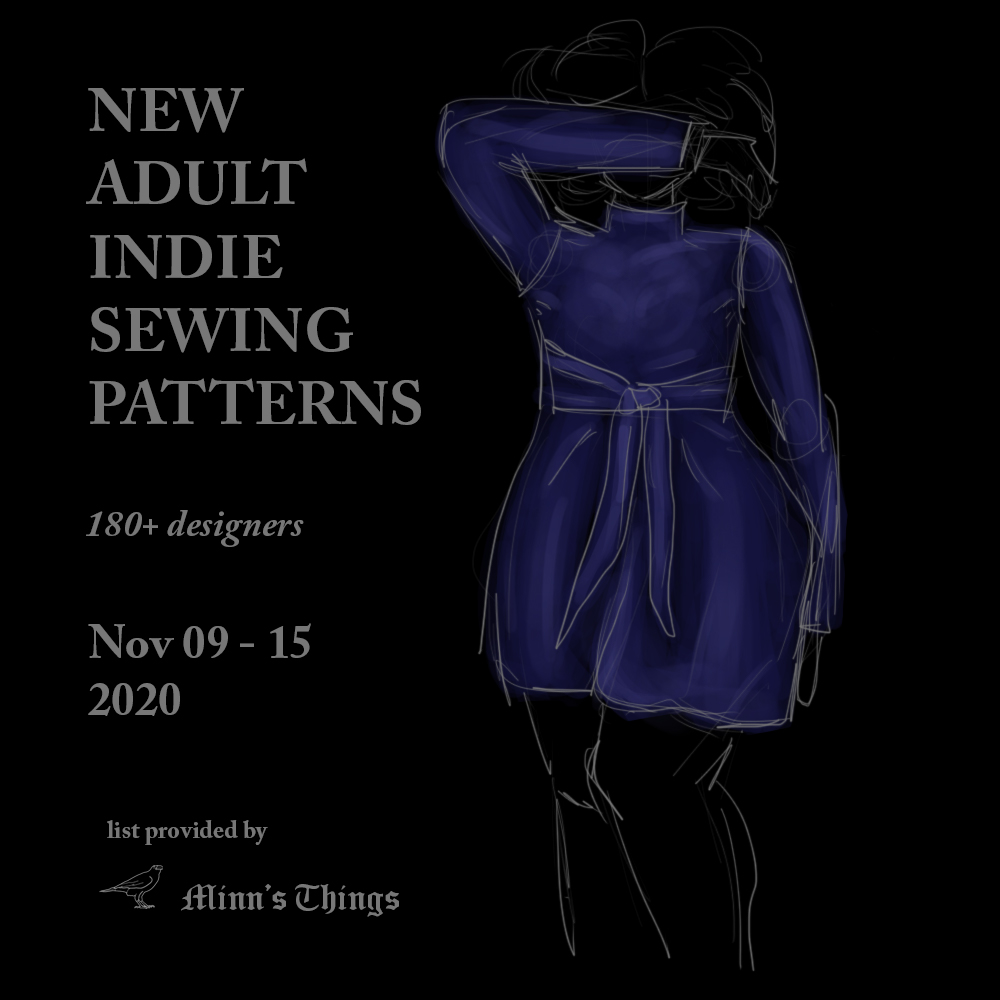 new releases indie small designers adult sewing patterns november 2020 list