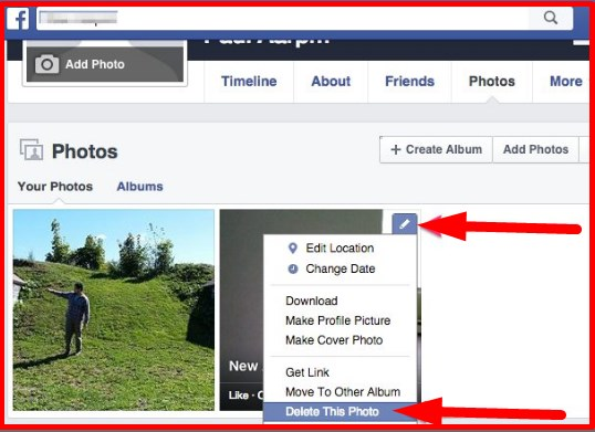 how to delete multiple pictures on facebook at once