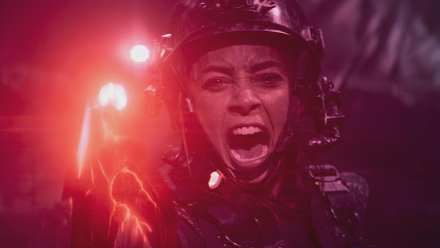 Lindsey Morgan in space