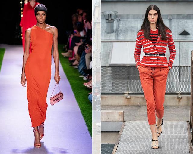 Апельсиновая корочка модные цвета весна-лето 2020 2