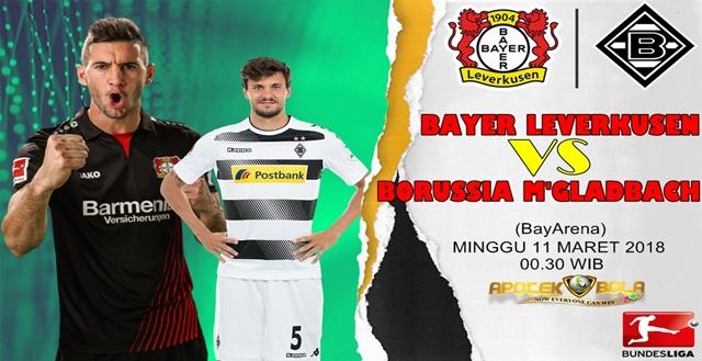 Prediksi Bayer Leverkusen vs Borussia Moenchengladbach 11 Maret 2018