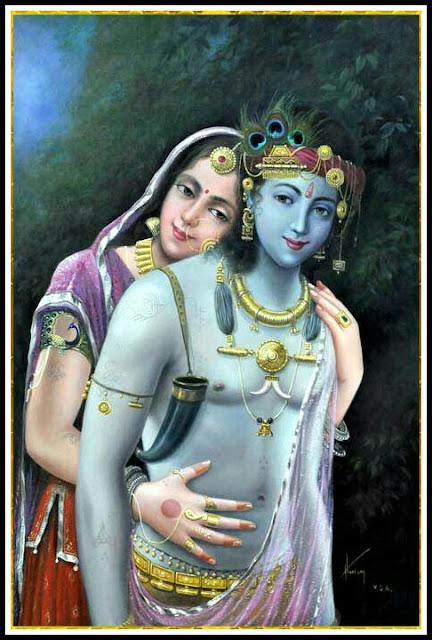 radha krishna art images hd