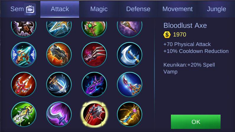 item bloodlust axe