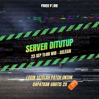 Notif!! kode redeem Free Fire (FF) 23 September 2020, Server Indonesia