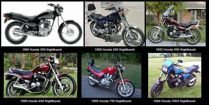 The Nighthawk Family of Motorcycles