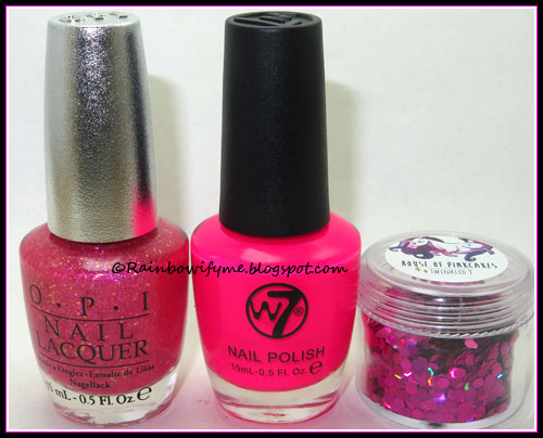 OPI ~ DS Tourmaline and W7 ~ It's Pink