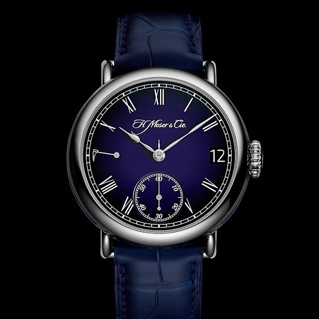 H. Moser & Cie. Heritage Perpetual Calendar Midnight Blue Enamel