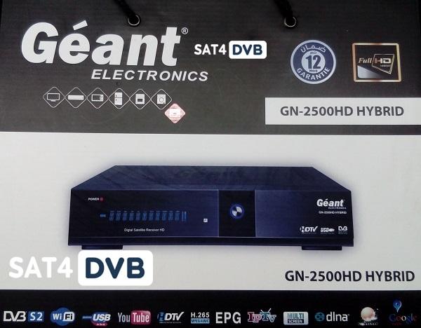 Mise à jour Géant GN-2500 HD HYBRID 07-06-2019 V2 32 - SAT4DvB