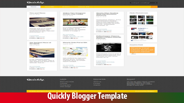 Quickly Presentation Premium Blogger Theme Original - Responsive Blogger Template